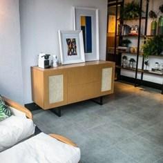 Piso Vinilico Ruffino sofisticato studio placa 45x45